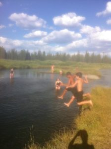 West Yellowstone Swimming the Madison river