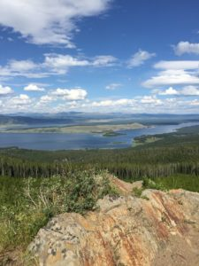 West Yellowstone Hebgen lake panoramic